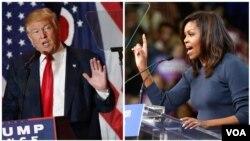 Republikanski predsednički kandidat Donald Tramp i prva dama SAD Mišel Obama