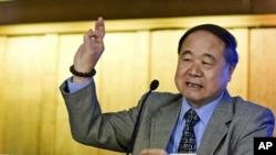 2012年諾貝爾文學獎得主中國作家莫言(資料圖片)