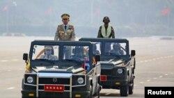 На фото: очільник хунти у М'янмі генерал Мінг Аунг Хлайн