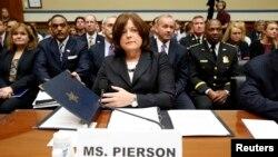 Giám đốc Cơ quan Mật vụ Mỹ Julia Pierson trong buổi điều trần ngày 30/9/2014.