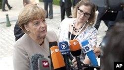 28일 벨기에 브뤼셀에서 유럽연합 정상회의에 참석한 앙겔라 메르켈 독일 총리.