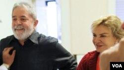 Lula da Silva e Marisa Letícia