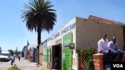 "103rd Street in Johannesburg has been nicknamed ""Mogadishio"" for its large Somali community. (VOA/S. Honorine)"