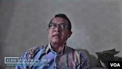 Kepala Pokja Kebijakan TNP2K, Elan Satriawan (Petrus Riski/VOA)