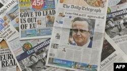 Kampanye di media-media Inggris makin sengit, menjelang referendum untuk menentukan apakah Inggris akan keluar atau tetap dalam Uni Eropa.