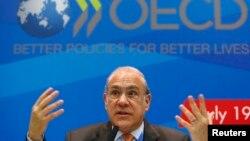 Angel Gurria, Sekjen OECD dalam forum G-20 di Moskow (foto: dok). Laporan baru OECD mengatakan bahwa perekonomian di negara-negara maju memperoleh momentum.