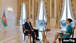 """Prezident İlham Əliyevin """"Rossiya-24"""" informasiya telekanalına müsahibə verib"""