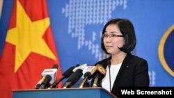 Phó Phát ngôn nhân Bộ Ngoại giao Việt Nam Nguyễn Phương Trà. Ảnh: Zing.vn