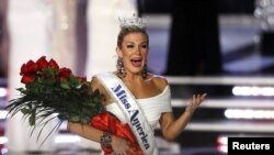 Mallory Hagan de 23 años, fue la ganadora del concurso de Miss América realizado en Las Vegas, la noche del 12 de enero.