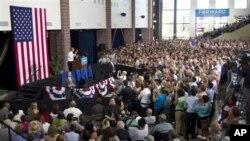 အေမရိကန္သမၼတ အိုဘားမား Truckee Meadows Community Collegeတြင္ မဲဆြယ္စည္းရံုးစဥ္