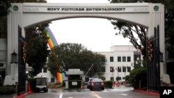 미국 캘리포니아 컬버시티의 소니 영화사 본부. 미국 정부는 지난 2014년 소니 영화사 해킹 공격의 배후로 북한을 지목했다. (자료사진)
