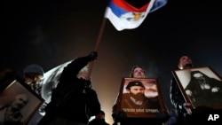 Protest protiv crnogorskog zakona o slobodi vjeroispovesti, u Beogradu 17. januara 2020. godine (Foto: AP/Darko Vojinović)
