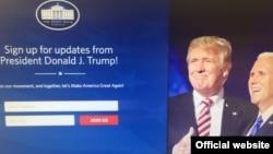 Así luce la página web de la Casa Blanca desde el momento que Donald Trump asumió la presidencia de Estados Unidos.