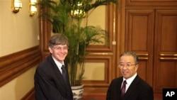 1月28日美国副国务卿斯坦伯格在北京中南海会晤中国国务委员戴秉国
