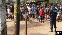 Des manifestants à Bamenda pour protester contre les discriminations au Cameroun, le 22 septembre 2017.