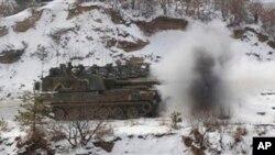 2012년 경기도 포천의 미-한 키리졸브 훈련 현장 (자료사진)