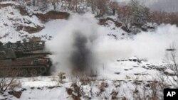 2012년 경기도 포천의 미한 키리졸브 훈련 현장 (자료사진)