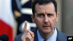 Syria President Bashar al-Assad addresses reporters, Dec. 9, 2010 (File)