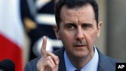 Syria President Bashar al-Assad addresses reporters, Dec. 9, 2010 (File)