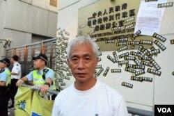 香港立法會議員梁耀忠。(美國之音湯惠芸)