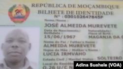 José Almeida Murevete, deputado provincial da Renamo assassinado em Nampula
