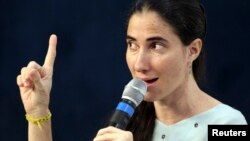Yoani Sánchez habló este jueves en un foro con medios de prensa organizado por el diario O Estado de Sao Paulo, en esa ciudad.