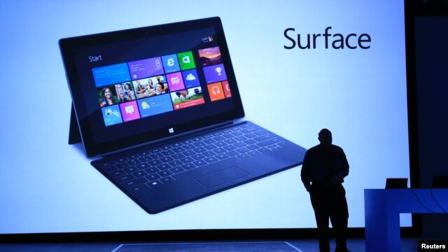 Microsoft officials introduce the Surface tablet computer