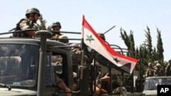 시위진압을 위해 출동하는 시리아군 (자료사진)