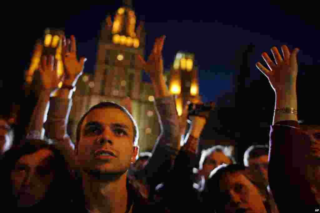 Протест на Краснопреснеской