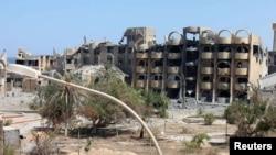 Ravages des combats à Syrte, en Libye, le 7 septembre 2016. (Reuters / Hani Amara)