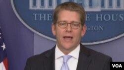 白宫发言人卡尼(VOA视频截图)