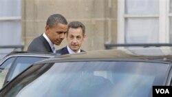 Prezidan Barack Obama ak Prezidan fransè a Nicolas Sarkozy nan Somè G20 an (foto achiv)