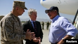 U.S. Secretary of Defense Leon Panetta in Afghanistan. (file)