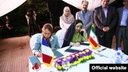 وزیر محیط زیست فرانسه و رئیس سازمان محیط زیست ایران نقشه راه همکاری امضا کردند.
