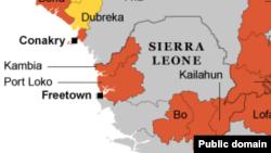 西非埃博拉地图