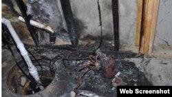 格力制造的除湿机导致的火灾现场(美国消费品安全委员会网页截图)