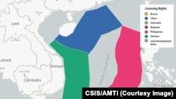 Khai thác dầu khí ở Biển Đông (CSIS/AMTI)