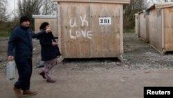 Dans le camp pour migrants de Grande-Synthe, dans le nord de la France, le 17 décembre 2016.