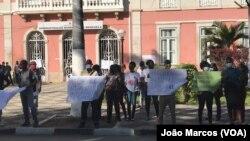 Trabalhadores da Função Pública em greve, Benguela, Angola