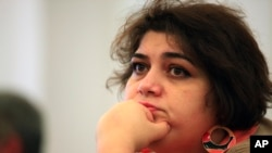 FILE - Investigative journalist Khadija Ismayilova is a contributor to Radio Free Europe/Radio Liberty.