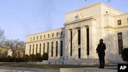 美國聯邦儲備委員會位於華盛頓特區的辦公大樓。(資料照片)