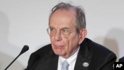 Pier Carlo Padoan, ministre italien des Finances, à Bari, Italie, 13 mai 2017.