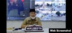 Wali Kota Jambi, Syarif Fasha dalam diskusi daring Platform Digital x UMKM Atasi Kelangkaan APD, Selasa 5 Mei 2020. (Screenshot : Anugrah Andriansyah)