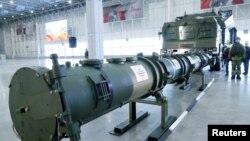 2019年1月23日莫斯科展出的巡航導彈。