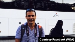 "FILE - Reza ""Robin"" Shahini, who was born in Iran and emigrated to the U.S., was detained in July 2016 in Gorgan, Iran, where he traveled to visit his mother and other family members."