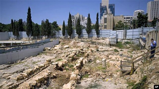 View of the construction site of the Tolerance Museum in Jerusalem, August 16, 2010 (file photo)