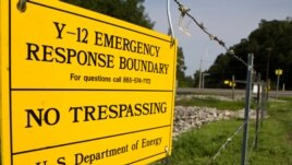 In this Aug. 17, 2012, photo a sign warns against trespassing onto the Y-12 National Security Complex in Oak Ridge, Tenn.