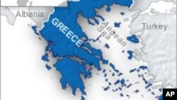 Peta wilayah Yunani