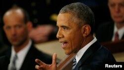 奥巴马总统发表国情咨文