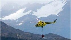 آتش سوزی در پارک ملی شیلی